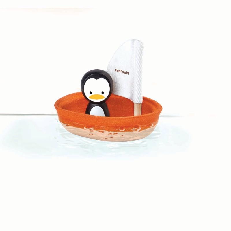 Plan Toys - Sailing boat- Penguin