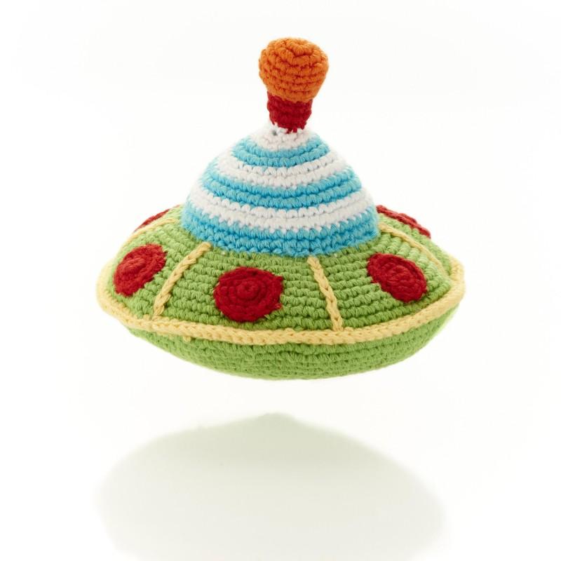 Pebble - Crochet Flying Saucer Rattle