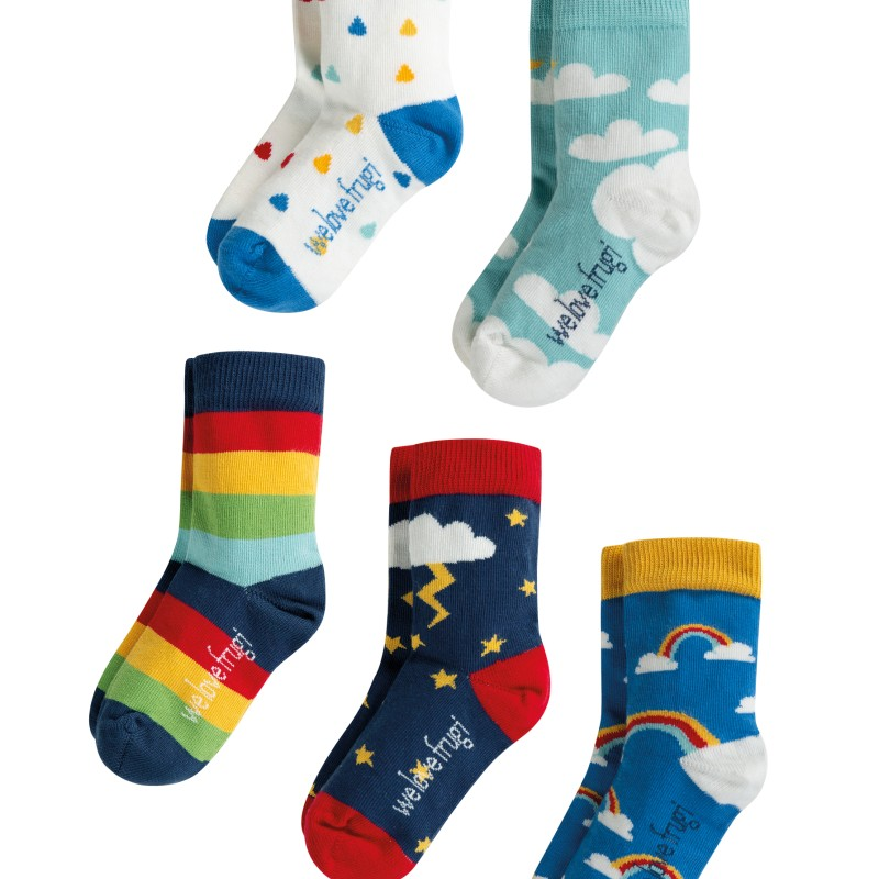 Frugi - Socks in a box Weather multipack
