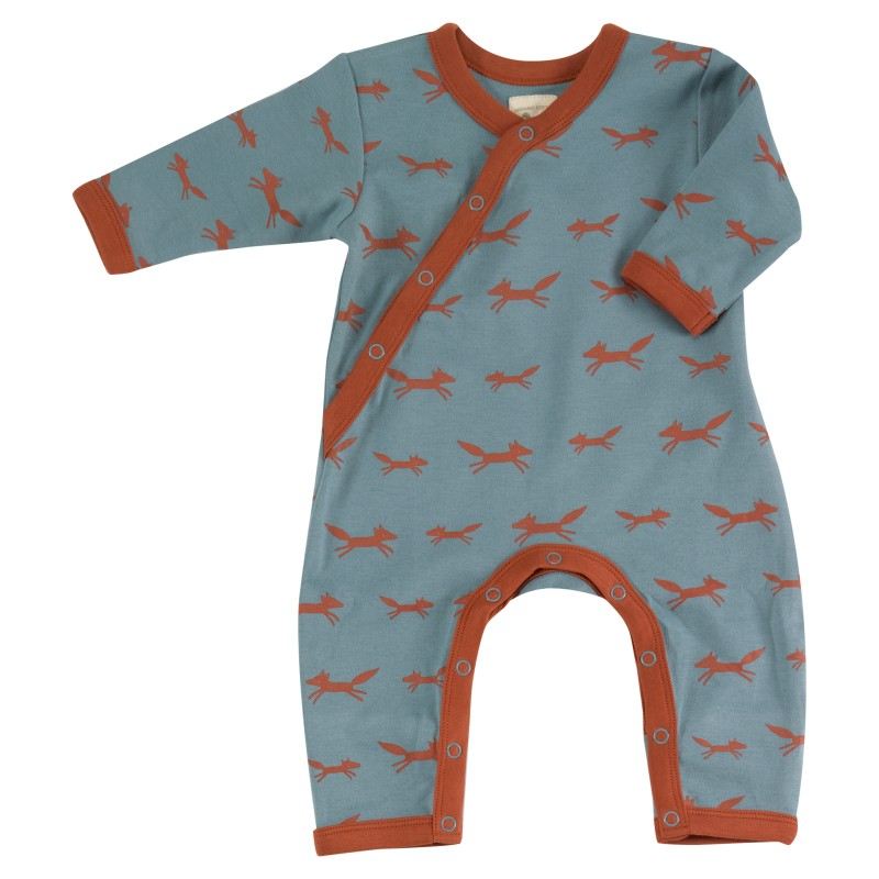 Pigeon - Romper foxes on blue