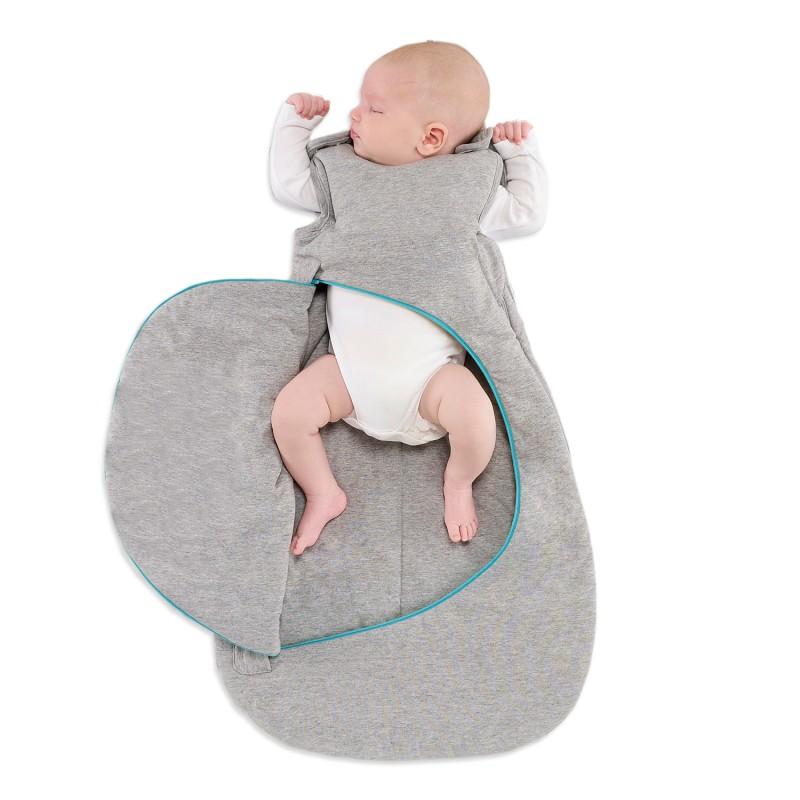 SnuzPouch Sleeping Bag Grey Pop Blue