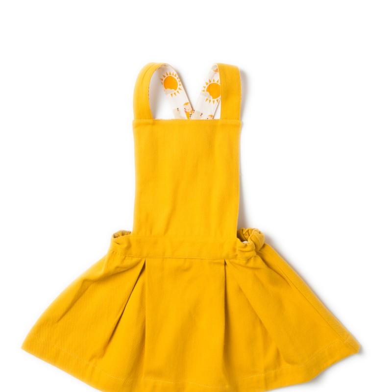 LGR gold pinafore dress 12-18 months