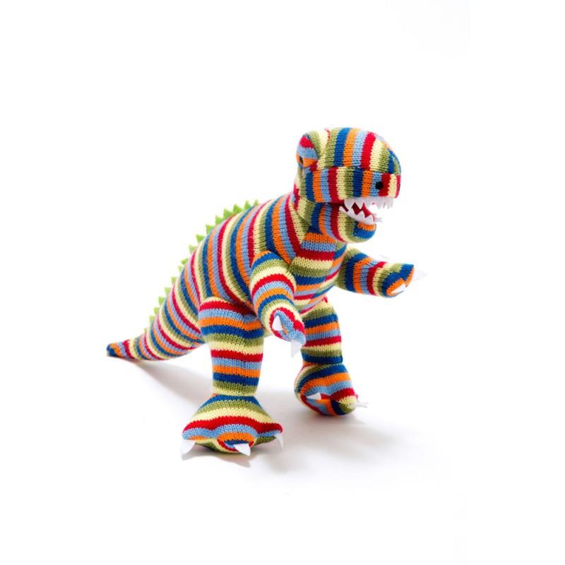 best years-Knitted multi stripe T Rex