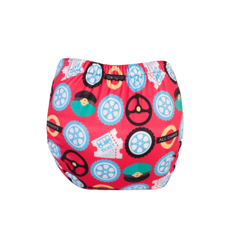 Tot Bots-NAPPY EASYFIT STAR PRINT- WHEELS ON THE BUS-one size