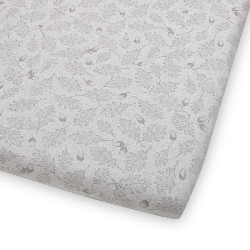 The Little Green Sheep Wild Cotton Organic Cot & Cot Bed Fitted Sheet - Leaf