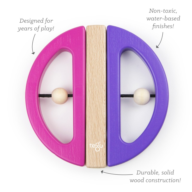 Tegu - Tegu Baby & Toddler (Rainbow) - Swivel Bug Pink/Purple