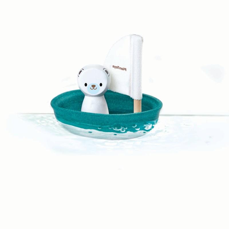 Plan Toys - sailing boat-Polar bear