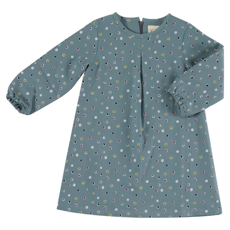 pigeon - Tunic dress - Spots on blue