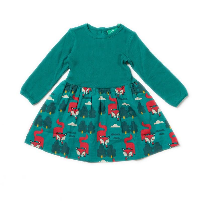 LGR- winter fox little twirler dress