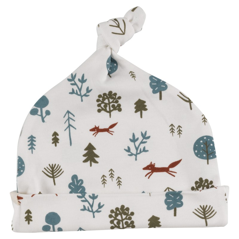 pigeon knotted hat - Nordic Forest 6-12 months