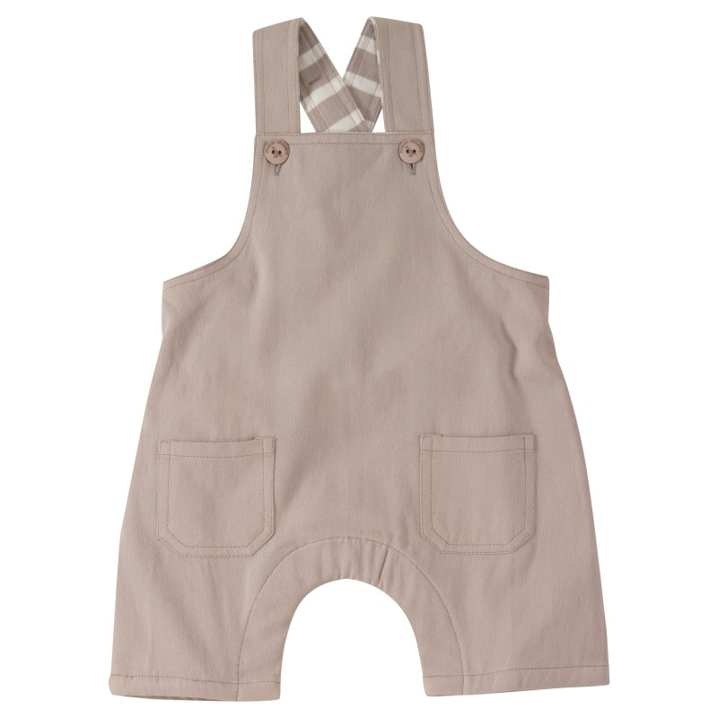 Pigeon - Baby dungarees Plain - Taupe
