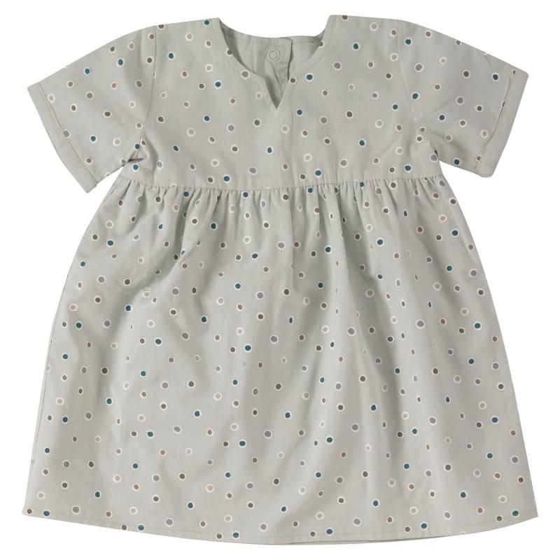 Pigeon Pretty reversible dress spots