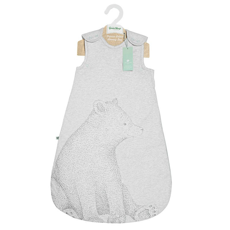 The Little Green Sheep Wild Cotton Organic Sleeping Bag (0-6m) - Bear