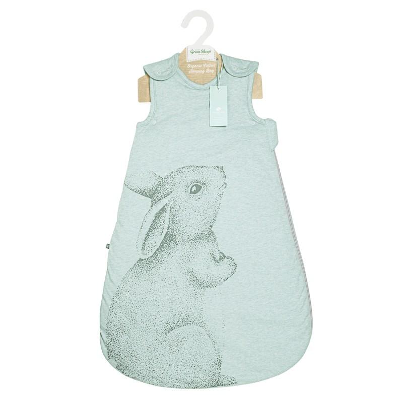 The Little Green Sheep Wild Cotton Organic Sleeping Bag (6-18m) - Rabbit