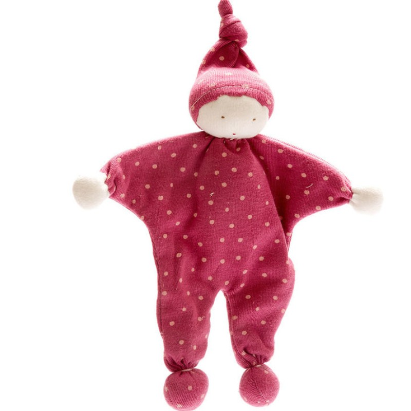 Under the Nile - Organic Baby Buddy - Dark pink with dots
