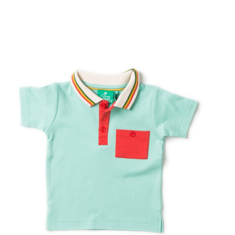 LGR- pale turquoise polo