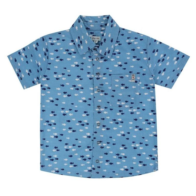 Lilly + Sid - Fish print shirt