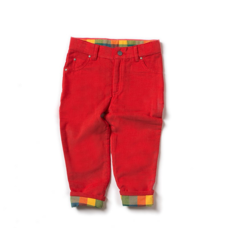 LGR - Red classic jeans lined 2-3 years