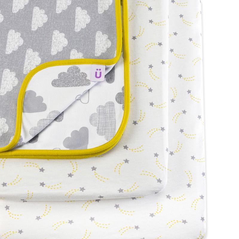 Snuz 3pc. Bedside Crib Bedding Set – Cloud Nine