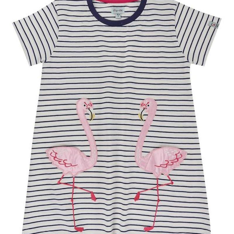 Lilly + Sid - Flamingo Pocket Dress