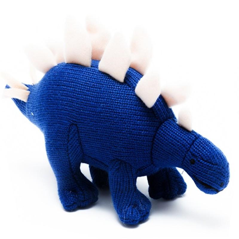 Best Years - Knitted mini Stegosaurus Rattle