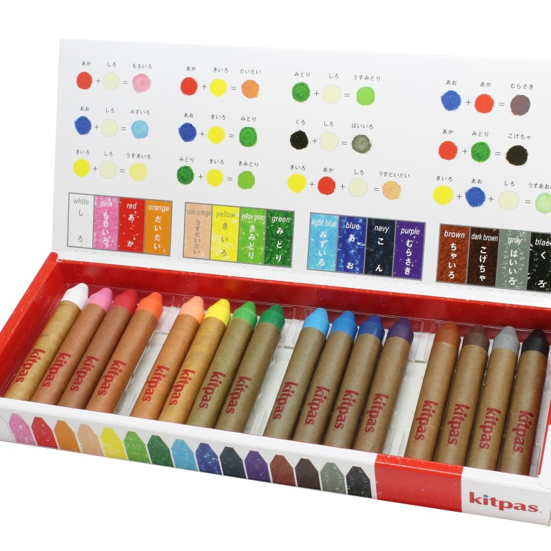 Kitpas - Crayon medium - 16 Colours