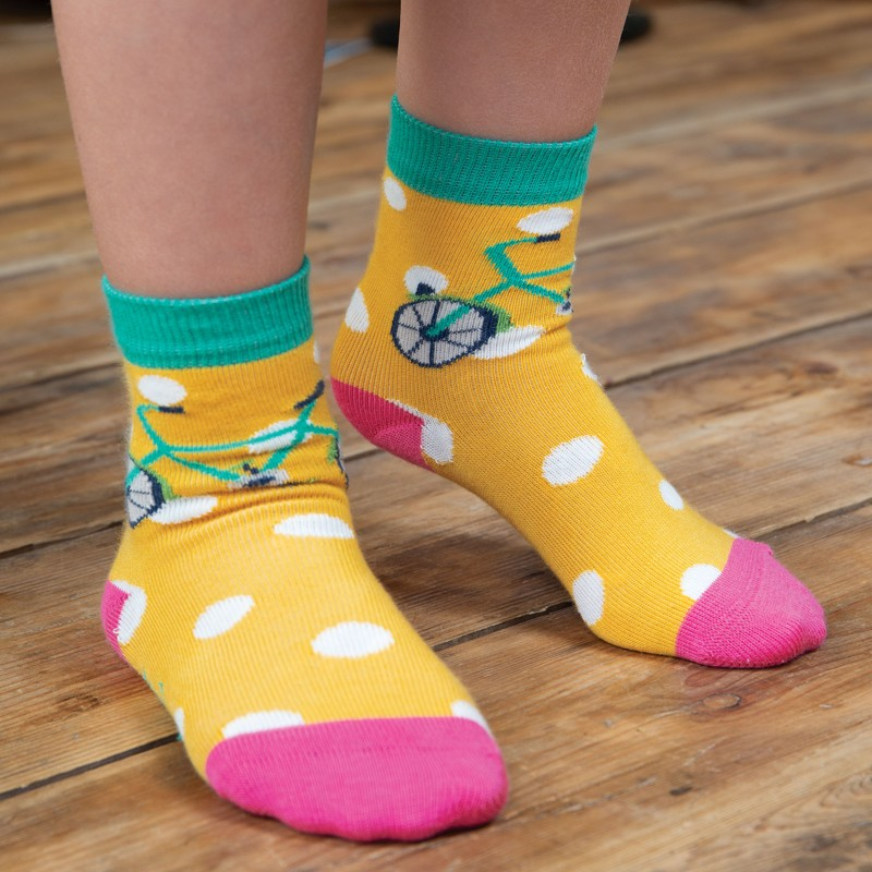 Frugi - Susie Socks 3 Pack, Transport Multipack