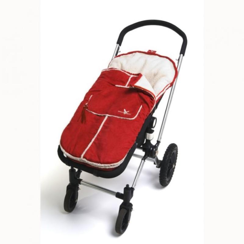 Wallaboo toddler footmuff - red