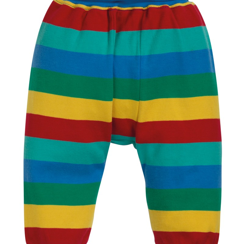 Frugi - Parsnip pants, Rainbow Stripe