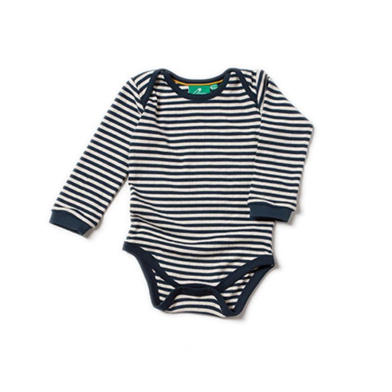 LGR - Pointelle navy Stripe Baby Body