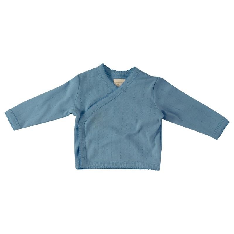 Pigeon Pointelle kimono jacket adriatic blue