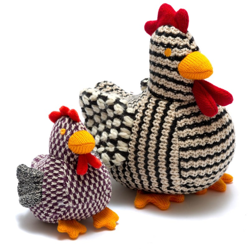 best years - Knitted chirpy hen - rattle