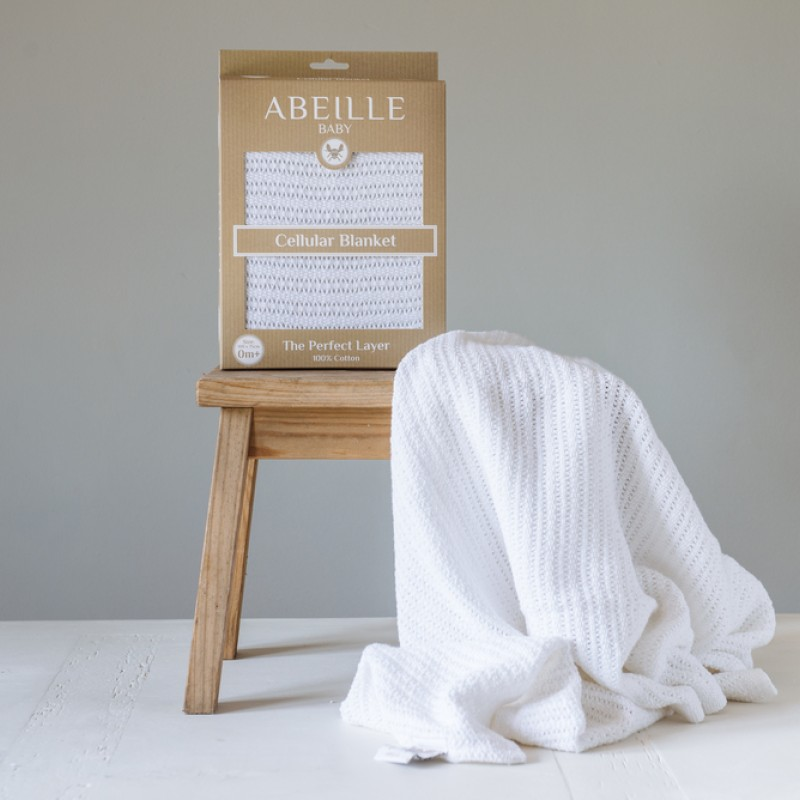 Abeille Cellular blanket - Whitetail (White)