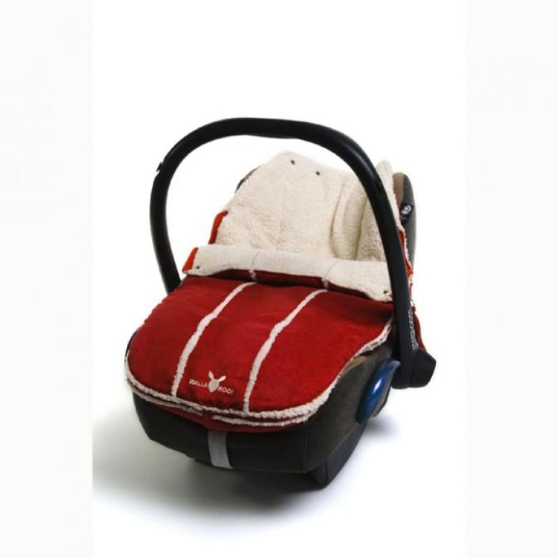 wallaboo footmuff newborn red