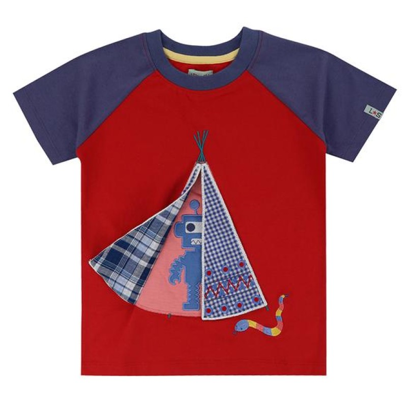 Lilly + Sid Applique t-shirt -tee pee surprise