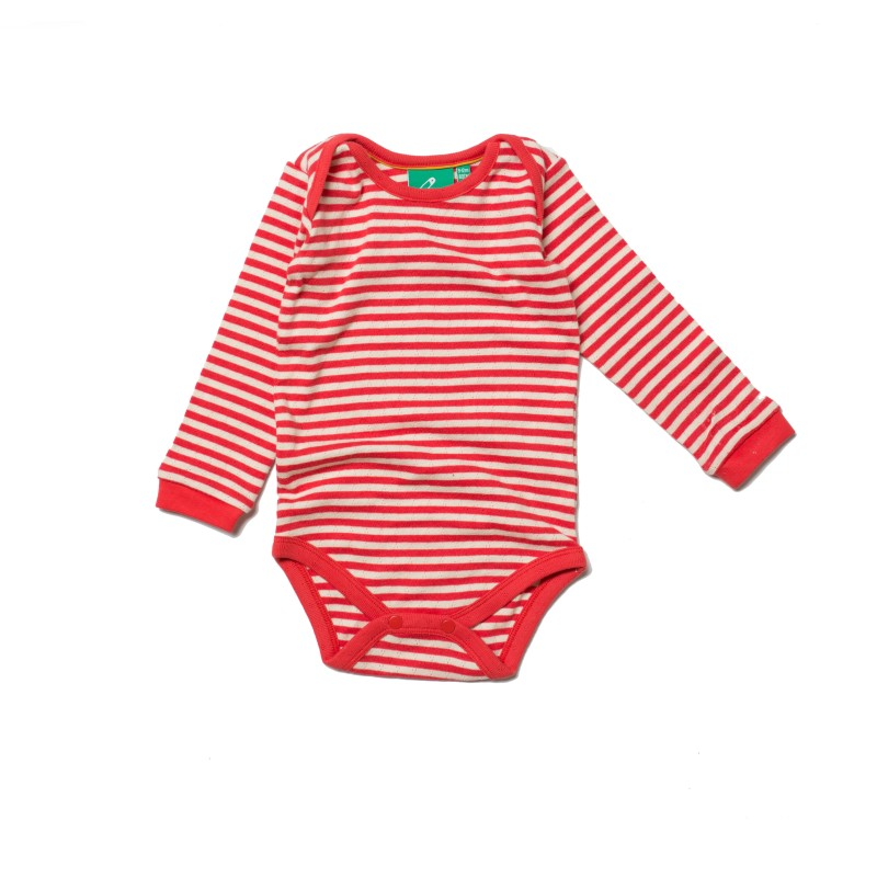 LGR - Pointelle red stripe vest