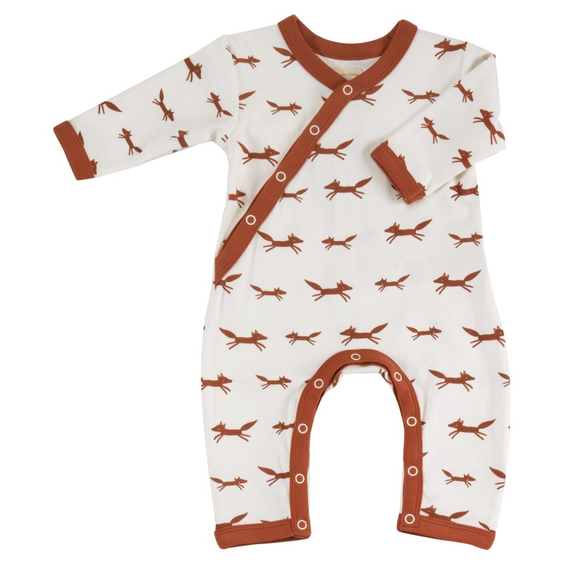 Pigeon - Romper - Foxes on white newborn