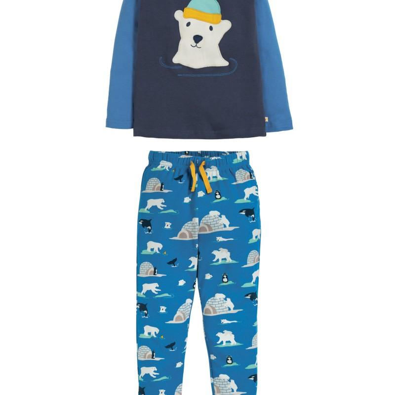 Frugi - Jamie jim jams, Space Blue / Polar Bear
