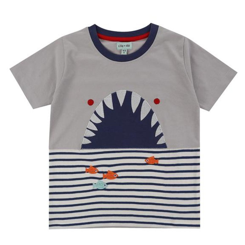 Lilly + Sid - Shark Character t-shirt