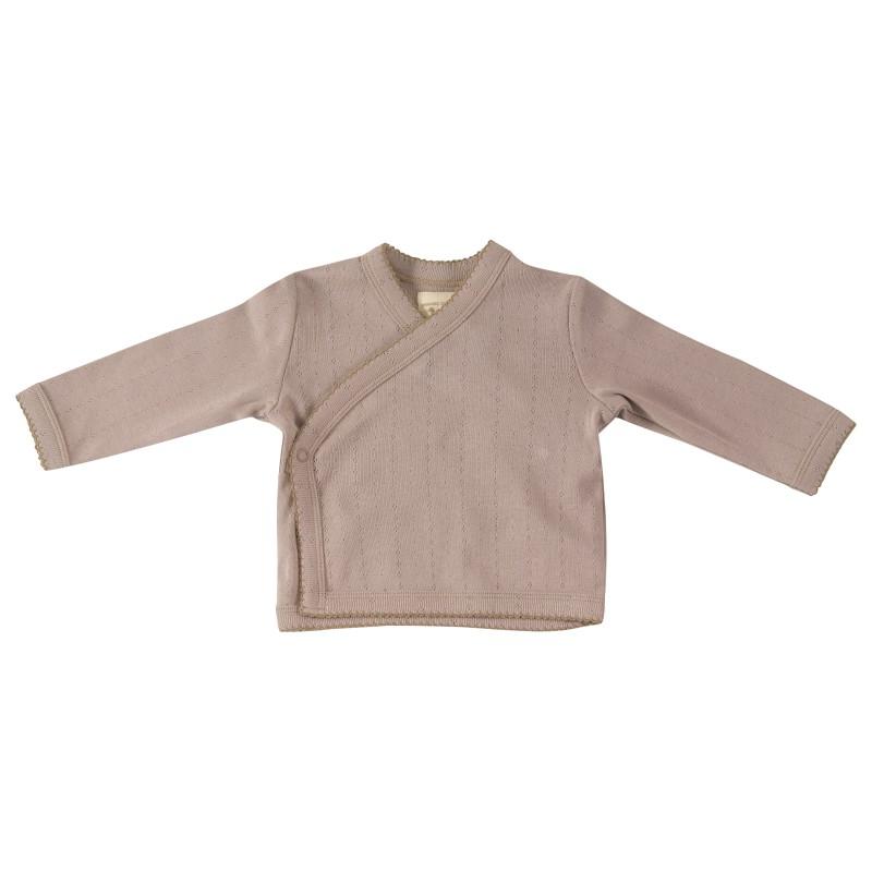 Pigeon Pointell kimono jacket taupe 0-3 months