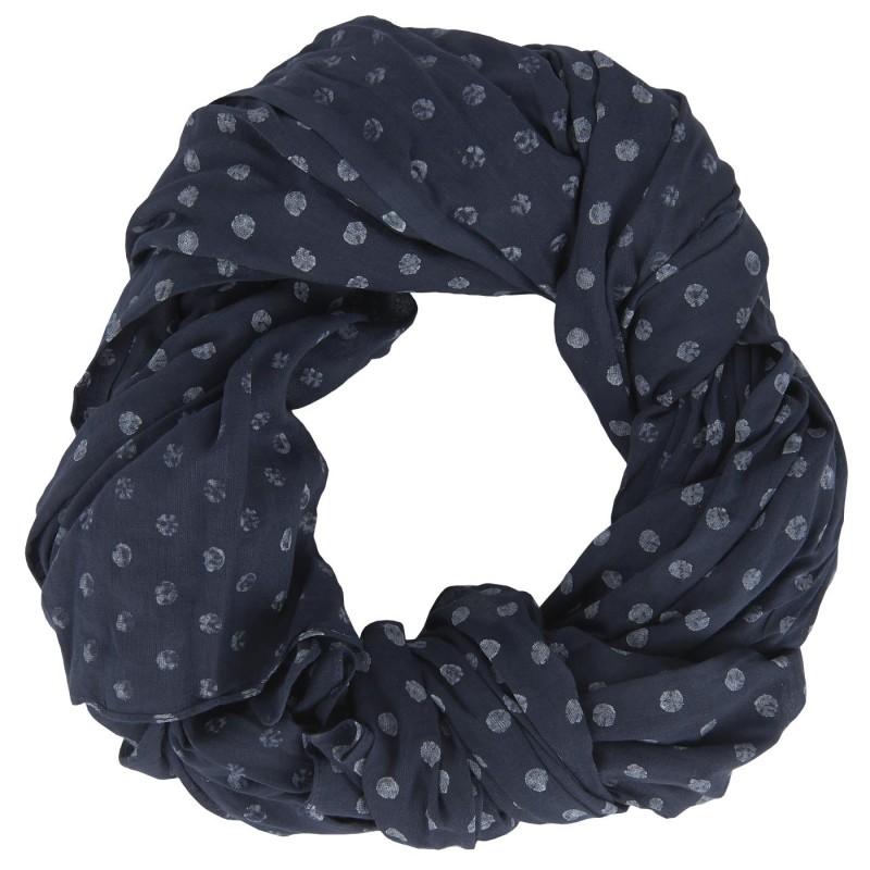 Halstuch blau mit weißen Punkten