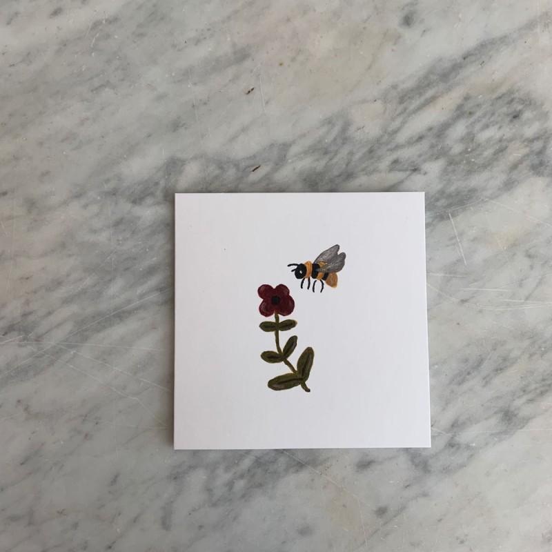 Kort Bie og blomst