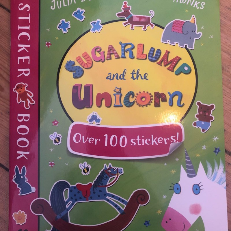 Sticker book sugarlump and the unicorn