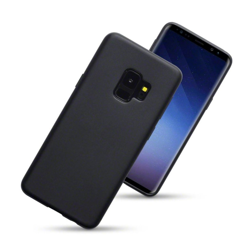 Samsung S9 TPU Gel Case - Solid Black Matte
