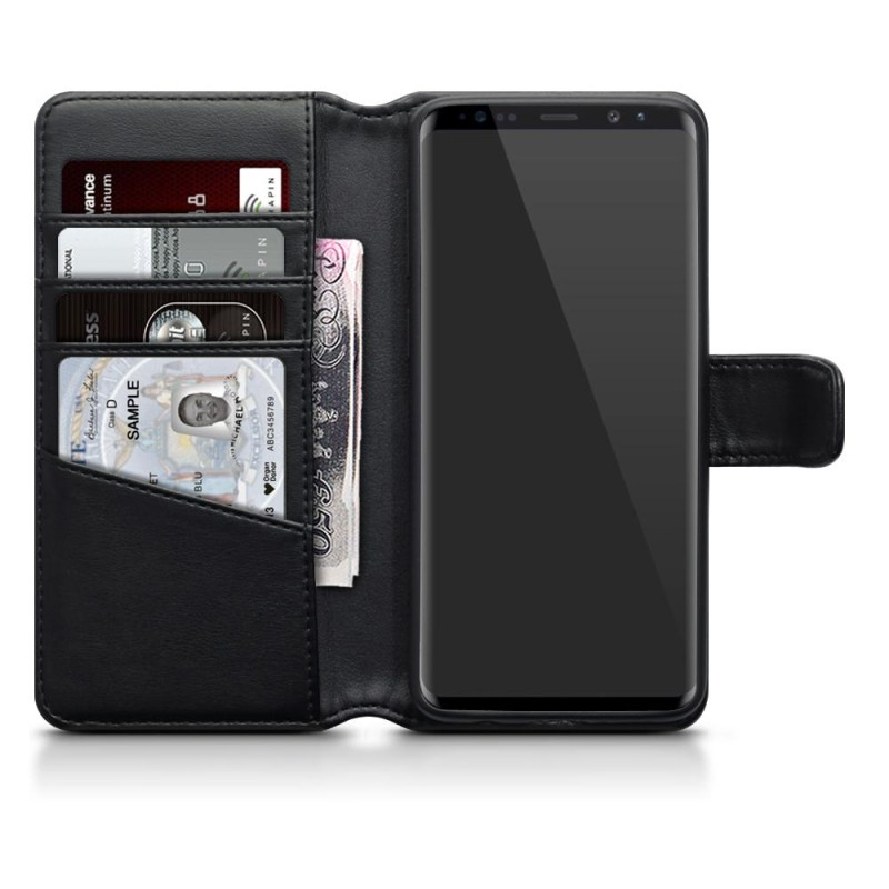 Samsung S9 Real Leather Wallet Case