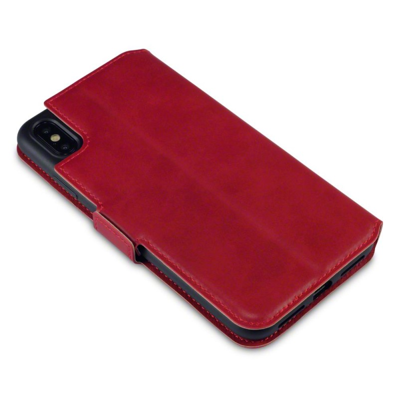 iPhone XS Max Low Profile Genuine Leather Wallet Case