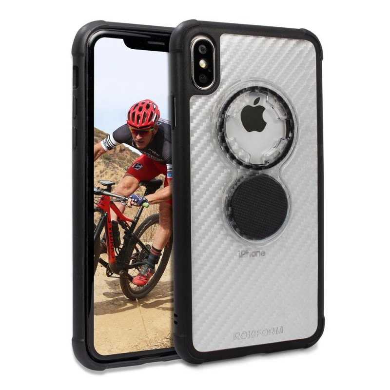 Rokform Apple iPhone XS Max Crystal Case - Carbon Clear