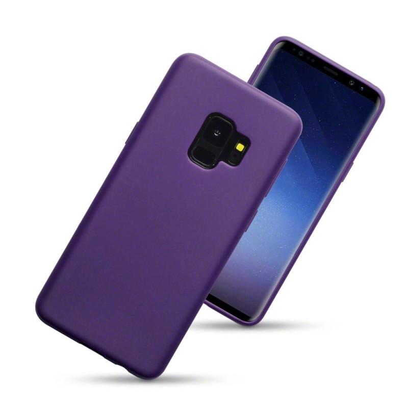 Samsung S9 TPU Gel Case - Solid Purple Matte
