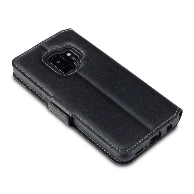 Samsung S9 Low Profile Genuine Leather Wallet Case