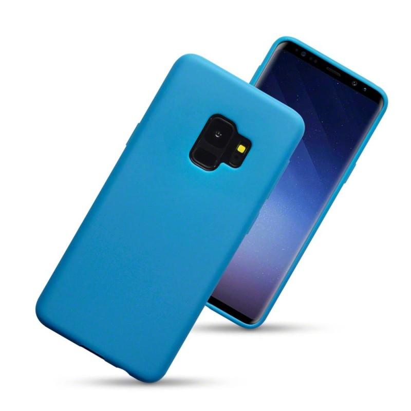 Samsung S9 TPU Gel Case - Solid Blue Matte